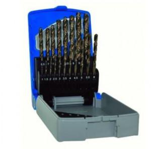 Set burghie TIVOLY // Set burghie DIN 338, rectificate, HSS-Co 5% 1-10 mm x 0,5 mm / 19 piese
