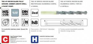 """Burghiu cu coada cilindrica pentru metal DIN 338 HSCOB tip N, tratament special TBX 4F """"Blade"""""""
