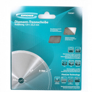 Disc diamantat pentru taiere umeda, muchie continua, 230 х 22,2 mm // GROSS