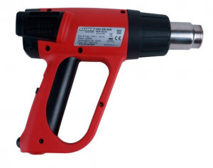 Pistol cu aer cald 2000 W, 630 grade celsius, display electronic Raider Power Tools