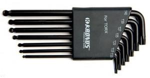 Set de chei locas TORX in suport de plastic TX10-TX40 / 7 piese, Kronus