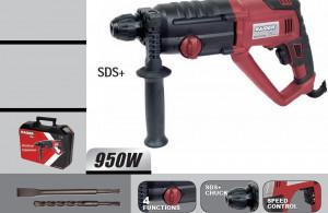 Ciocan rotopercutor 4 functii, 3J 950W RDP-HD12H, Raider Power Tools
