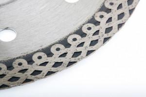 Disc diamantat 115 x 1,2 x 22,2mm, subtire, continuu (Jaguar), taiere umeda // GROSS