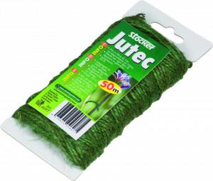 Fir biodegradabil din fibra de iuta naturala Jutec 50 m - culoare verde, Stoker
