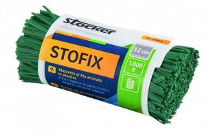 Fir plastificat Stofix, buchet 1.000 bucati de 12 cm, Stoker