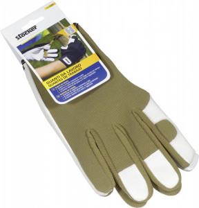 Manusi de lucru, palma din piele naturala, masura 11/XL, culoare verde, Stoker