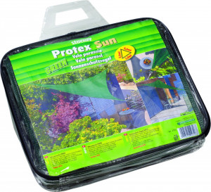 Panza pentru umbrire Protex Sun 85% grad de umbrire, 3,6 x 3,6 m, verde, Stoker