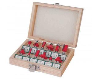 Set 12 freze profilate cu prindere 8 mm, Raider Power Tools