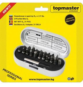 Set 21 pcs biti S2 / 8x6 Topmaster