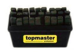 Set poansoane litere, 27piese, 8mm, Topmaster Profesional