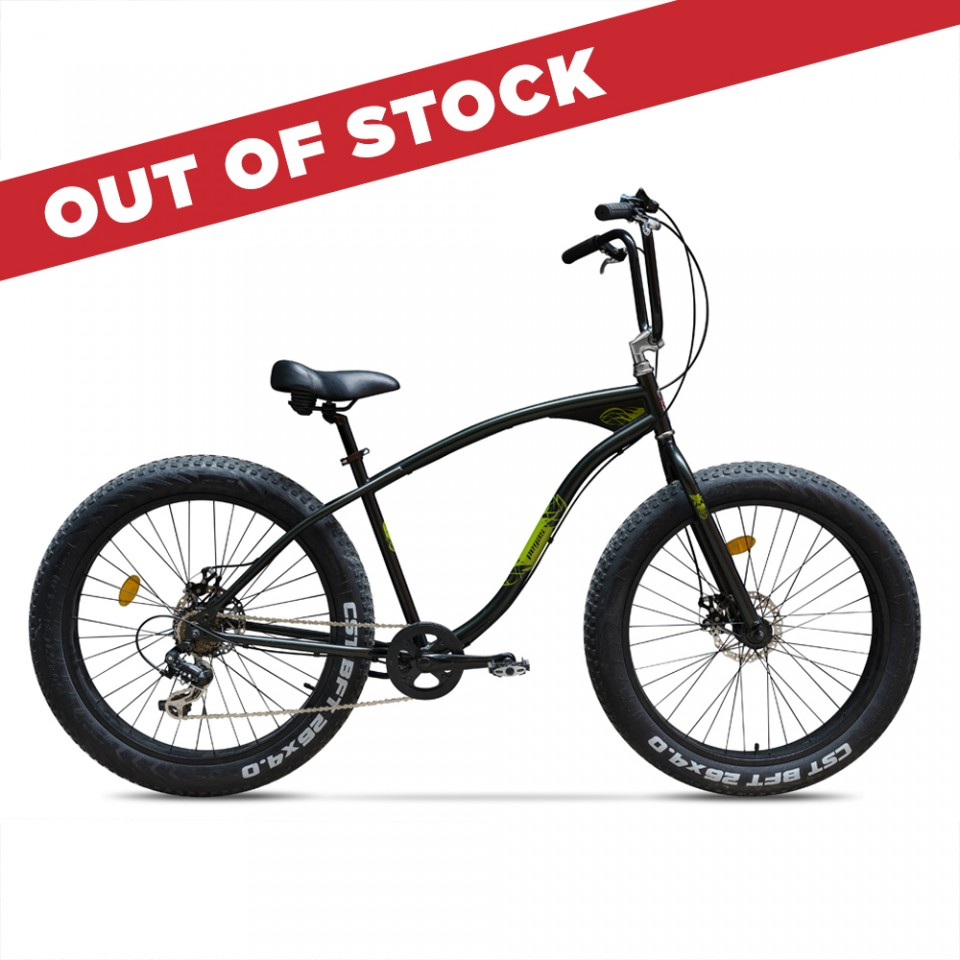 Poze Cutezator Verde Respect, Fat Bike - 7 viteze