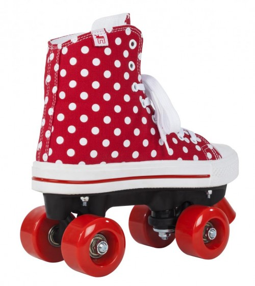 Poze ROLE ROOKIE CANVAS HIGH POLKA DOTS  ROSU ALB
