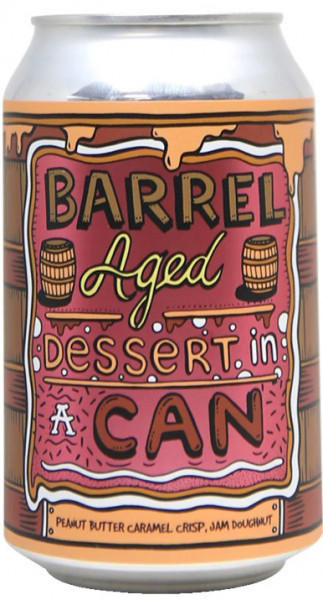 AMUNDSEN - Barrel Aged Dessert In A Can - Peanut Butter Caramel Crisp, Jam Doughnut
