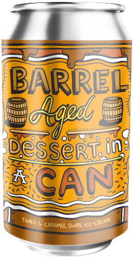 AMUNDSEN - BARREL AGED DESSERT IN A CAN TONKA & CARAMEL ICE CREAM
