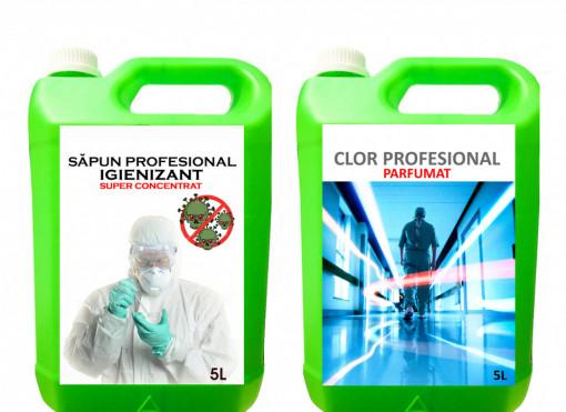 Sapun Igienizant PROFESIONAL + Clor Profesional Parfumat