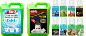 Magic ! HAINE SUPER PARFUMATE - Detergent GEL Profesonal + Balsam + 8 Parfumuri Diferite