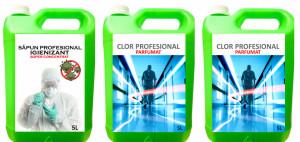 Pachet SUPER SAFE ! Sapun Igienizant PROFESIONAL + 2 X Clor Profesional Dezinfectant