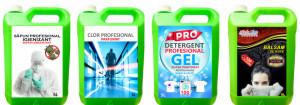 Pachet SUPER CLEAN ! Sapun Igienizant + Clor Profesional + Detergent Gel Profesional + Balsam Super PARFUMAT