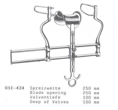 Departator abdominal BALFOUR 100x250 mm cu valva centrala