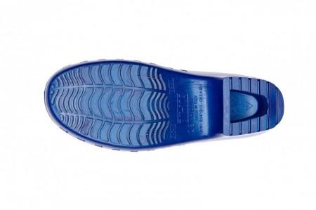 Saboti Calzuro Classic fara perforatii - Albastru Metalizat