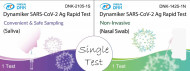 Single test of COVID-19 Antigen test to help self-test