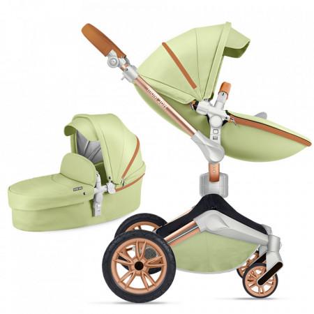 Carucior Copii Hot Mom 360 Green 2 in 1, varsta intre 0 si 36 de luni, alegerea perfecta pentru voi: design modern, elegant si confortabil