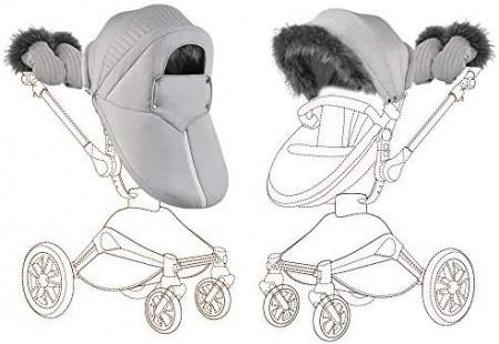 Set de iarna Hot Mom pentru carucioarele Hot Mom 360, calduros, impotriva vantului, potrivit pentru landou si parte sport, culoare unisex