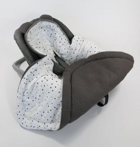 Tiny Star - Husa Pentru Scaun Auto Sweet Confetti, Paturica De Infasat, Cocon, Fixata Cu Sistem Velcro