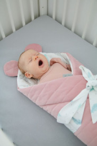 Tiny Star - Paturica de infasat, BabyHorn Velvet Plumes & Powder