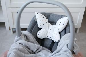Tiny Star - Perna Confetti Buterfly, Pentru Carucior, Patut, Leagan, Babynest