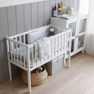 Woodies Dream Crib - Patut Mic 90 x 40 cm Alb, Din Lemn Masiv
