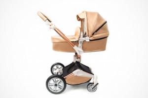 Carucior Copii Hot Mom 360 Champagne 2 in 1, varsta intre 0 si 36 de luni, design modern, elegant si confortabil