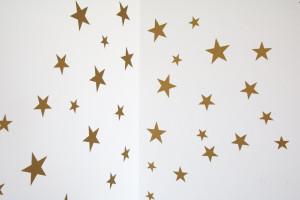 Stickere pentru perete, pentru camera copilului, Tiny Star Gold