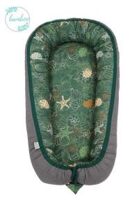 Tiny Star - Babynest Bambus Shells &Graphite, Cuib Pentru Bebelusi, Ajustabil, Portabil, Reductor