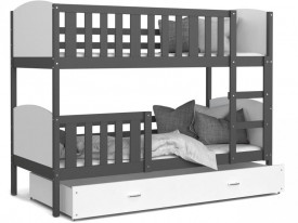 Patut tineret MyKids 2 in 1 Tami Color White/Grey-190x80