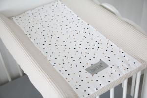 Tiny Star - Husa Pentru Salteaua De Infasat, Confetti &Beige , 50 cm x 70 cm