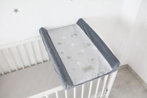Tiny Star - Husa Pentru Salteaua De Infasat, Mist & Steel , 50 cm x 70 cm