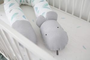 Tiny Star - Perna 3in1 Plumes Sweet, Pentru Maternitate, Hranire, Protectie Patut