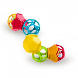 """Bright Starts - Jucarie Clicky Twisterâ""""¢ Easy-Grasp Rattle Oball"""