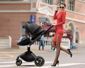 Carucior Copii Hot Mom Premium 2 in 1 Negru, varsta intre 0 si 3 ani, alegerea perfecta prin design-ul modern, tesaturile fine si spuma ergonomica