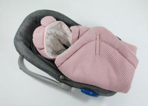 Tiny Star - Husa Pentru Scaun Auto Sweet Love, Paturica De Infasat, Cocon, Fixata Cu Sistem Velcro