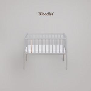 Woodies Stardust Crib - Patut Mic 90 x 40 cm gri, Din Lemn Masiv