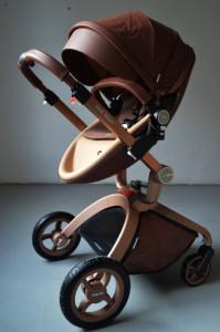 Carucior Copii Hot Mom Premium Coffee 2 in 1, varsta intre 0 – 36 luni, realizat din materiale de calitate