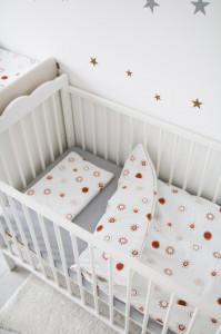 Lenjerie de pat pentru copii Tiny Star Sunshine 100 x 75 cm