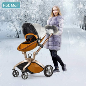 Set de iarna Hot Mom pentru carucioarele Hot Mom Premium, calduros, impotriva vantului, potrivit pentru landou si parte sport, culoare unisex
