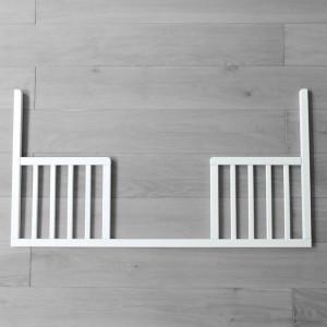 Woodies Safe Dreams - Latura Deschisa DayBed Pentru Patut Smooth Alb 120 x 60 cm