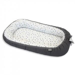 Babynest Confetti & Graphite, Cuib Pentru Bebelusi, Ajustabil, Portabil, Reductor Patut, Tiny Star