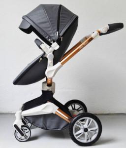 Carucior Copii Hot Mom 360 Dark Grey 3 in 1, varsta intre 0 si 36 de luni, landou spatios, modul sport
