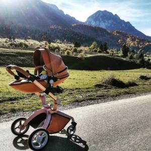Carucior Copii Hot Mom Premium 3 in 1 Brown, varsta intre 0 si 36 de luni, sigur si usor de folosit