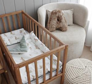 Woodies Dream Crib - Patut Mic 90 x 40 cm Vintage, Din Lemn Masiv